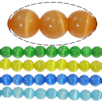 Cats Eye Beads, Round, more colors for choice, 6mm, Length:14-14.5 Inch, Approx 65PCs/Strand, Sold By Strand