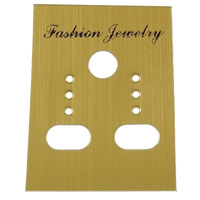 Earring Display Card, Polypropylene(PP), Rectangle, Customized, deep orange, 30x41mm, 1000PCs/Bag, Sold By Bag