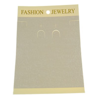 Polypropylene(PP) Jewelry Set Display Card, Rectangle, Customized, yellow, 105x150mm, 1000PCs/Bag, Sold By Bag