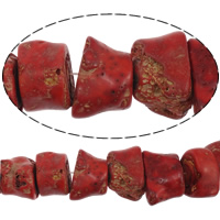 Natural Coral Beads, Nuggets, red, AB Grade, 30-70x15-25mm, Length:15.5 Inch, Approx 3Strands/KG, Sold By KG