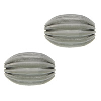 Stainless Steel Beads, 304 Stainless Steel, Oval, plated, corrugated, more colors for choice, 7x5mm, Hole:Approx 1mm, Sold By PC