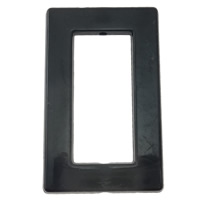 Solid Black Acrylic Beads, Rectangle, more colors for choice, 21x34x3mm, Hole:Approx 1mm, Approx 415PCs/Bag, Sold By Bag