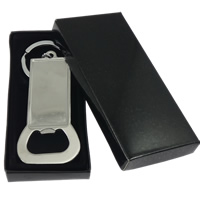 Bottle Opener Key Chain, Stainless Steel, 81x37x3mm, Inner Diameter:Approx 48x23mm, Length:5 Inch, Sold By PC