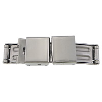 Stainless Steel Watch Band Clasp, different size for choice, original color, 40x11x4mm, Sold By PC
