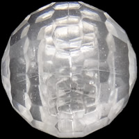 Acrylic Shank Button, Dome, transparent & Customized & faceted, more colors for choice, Sold By Bag