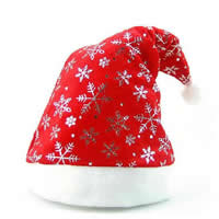 Christmas Hat, Velveteen, printing, red, 200x400mm, Sold By PC