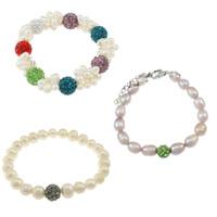 Rhinestone Pearl Bracelets
