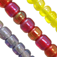 Transparent Rainbow Glass Seed Beads
