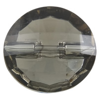Acrylic Shank Button, Flat Round, faceted, more colors for choice, 30x7mm, Hole:Approx 1mm, 100PCs/Bag, Sold By Bag