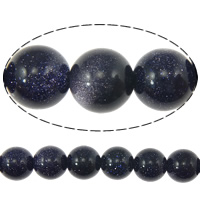Blue Goldstone Beads, Round, more sizes for choice, Length:Approx 15 Inch, Sold By Strand