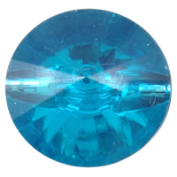 Acrylic sewing button, Flat Round, transparent & Customized & faceted, more colors for choice, Sold By Bag
