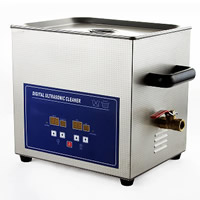 Stainless Steel Digital Ultrasonic Cleaner, Rectangle, 330x270x310mm, Sold By PC