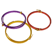 Aluminum Wire, plated, more colors for choice, 5mm, Length:Approx 3640 Inch, Sold By KG