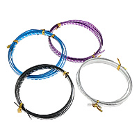 Aluminum Wire, electrophoresis, textured, more colors for choice, 5mm, Length:Approx 3640 Inch, Sold By KG