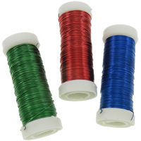 Iron Wire, electrophoresis, more colors for choice, nickel, lead & cadmium free, 0.37mm, Length:300 m, 6PCs/Bag, 50m/PC, Sold By Bag