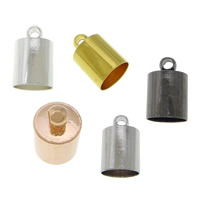 Brass End Cap, plated, more colors for choice, cadmium free, Sold By PC