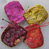 Silk Drawstring Pouches, more colors for choice, 108x135mm, Sold By PC