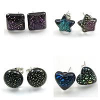 Dichroic Glass Earring