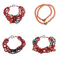 Crystal Coral Bracelets