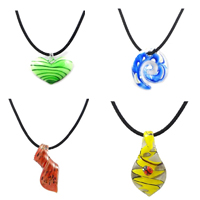 Lampwork Velvet Cord Necklace