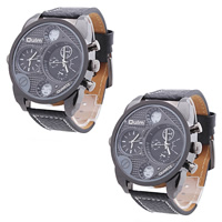 Women Wrist Watch, Leather, plumbum black color plated, black, lead & cadmium free, 56x12mm, 25mm, Length:Approx 10.5 Inch, Sold By Strand