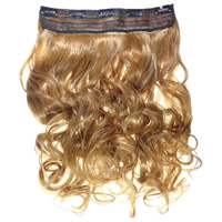 Human Hair Extensions, Fiber, curls, yellow, 60cm, Sold By PC