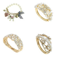 Glass Pearl Zinc Alloy Bracelets