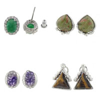 Gemstone Stud Earring