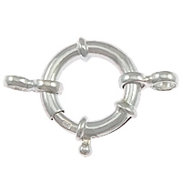 Sterling Silver Spring Ring Clasp, 925 Sterling Silver, plated, with connector bar, more colors for choice, 35x23x5mm, Hole:Approx 4mm, Sold By PC