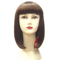 Full Head Wigs, Fiber, straight & felicity, 40-50cm, Sold By PC