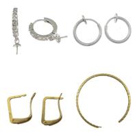 Brass Hoop Earring Components