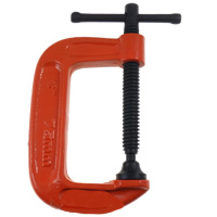 G Clamp, Iron, painted, different size for choice & Customized, reddish orange, Sold By Lot