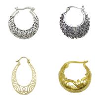 Brass Pinch Hoop Earring