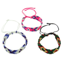 Friendship Bracelets, Nylon Cord, braided, more colors for choice, 17x4mm, Length:Approx 7.5 Inch, 12Strands/Bag, Sold By Bag