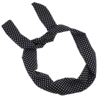 Headband, Cloth, with Iron, with round spot pattern, black, nickel, lead & cadmium free, 79x4cm, Sold By PC