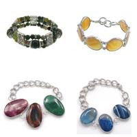 Brass Agate Bracelets