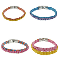 Stainless Steel Clasp Wax Cord Bracelets