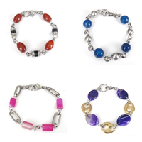 Agate Stainless Steel Bracelets