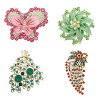 Rhinestone Zinc Alloy Ornaments