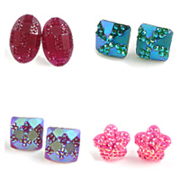 Resin Stud Earring