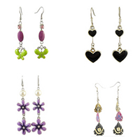 Enamel Zinc Alloy Dangle Earring