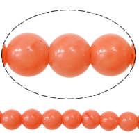Natural Coral Beads, Round, reddish orange, AA Grade, 3.5~4.0mm, Length:16 Inch, Approx 94Strands/KG, Approx 92PCs/Strand, Sold By KG