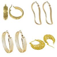 Zinc Alloy Hoop Earring