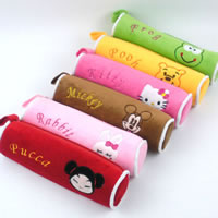 Fashion Pencil Bag, Velveteen, Tube, mixed colors, 220mm, 100PCs/Lot, Sold By Lot