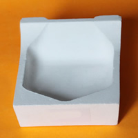 Quartz Melting Dish, white, 80x80x42mm, Sold By PC