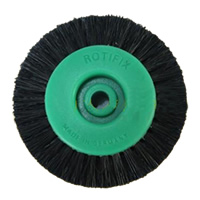 Plastic Polishing Brush, Flat Round, green, 65mm, Sold By PC