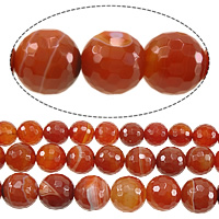 Natural Lace Agate Beads, Round, different size for choice & Customized & faceted, red, Sold Per Approx 15 Inch Strand