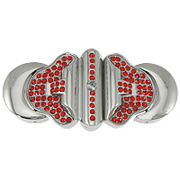 Stainless Steel Magnetic Clasp, plated, Customized & with rhinestone, more colors for choice, 64x29x11mm, Sold By PC