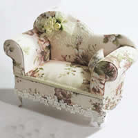 Cotton Jewelry Set Box, with Lace & Satin Ribbon & Glass & Zinc Alloy, Sofa, multi-colored, 36PCs/Lot, Sold By Lot