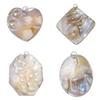 Natural Pearl Shell Pendant
